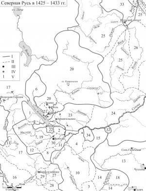 Расположение и границы северных владений ярославских князей